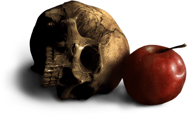 Skull and Apple Header